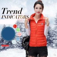 Wholesale 2017 Spring Colorful Cotton padded Jacket Women Solid Zipper Outerwear Winter Warm Vests Slim Short Jackets Parka YRF016