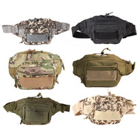 Wholesale 2016 Outdoor Military Tactical Waist Pack Shoulder Bag Molle Camping Hiking Pouch Climbing Bag Outdoor Bags
