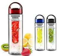 Wholesale Tritan Plastic Fruit Juice Infuser Bottle Outdoor Sports Infusing Water Bottles ml Lemon Cup BPA Free Eco Friendly Drinkware