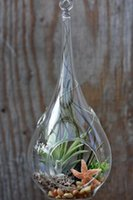 bamboo candle holder - Dia10 H20cm Teardrop hanging glass vase crystal vase for airplant garden candle holders only Glass