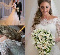 wedding gowns - 2016 Vestidos De Noiva Spring Romantic Applique Lace Wedding Dresses Vintage Long Sleeves A Line Bridal Gown Beach Wedding Gowns Robe BO5656