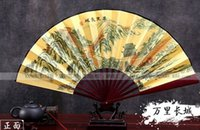 Wholesale Chinese classical style folding raw silk fan Chinese folding fan