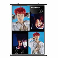 Wholesale Youpop KPOP EXO Album K M EX ACT Monster Lucky One CHANYEOL Non woven Poster Wall Hanging Painting Wall Picture Flip Chart