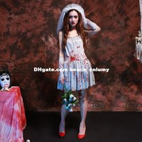 alternative clothing women - DHL Bloody ghost bride halloween costumes cosplay women alternative art photo service game server performance clothing