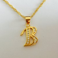 b heart initial necklace - Fashion Punk Bitch bad Letter B Alloy Pendant Necklaces Jewelry