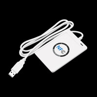 Wholesale USB Full Speed NFC ACR122U RFID Contactless Smart Card Reader Writer with M1 Cards For types of NFC ISO IEC18092 tags