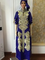 african dress material - new fashion design african bazin riche material embroidery dress long