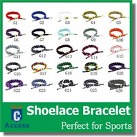 impression en lacet achat en gros de-26 COULEUR GALAXY IMPRESSION CLASSIQUE BRAIDED SHOELACE BRACELET ENAMELLE PLAQUE METAL AJUSTABLE CYLINDRE AGLETS FEATURING DEBOSSED EMBLEMS