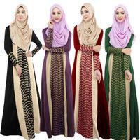 Wholesale WOMEN KAFTAN CELEB MUSLIM LACE CHIFFON LONG SLEEVE MAXI ABAYA PARTY DRESS WOMEN KAFTAN NEW AUTUMN SPRING PLUS SIZE DRESSES
