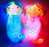 batteries movie - Mermaid Luminous Plush Dolls Luminous pillow Princess Mermaid Tail Stuffed Plush Toys Toddler Dolls cm not including battery KKA345