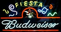 advertising marquee - New Budweiser Fiesta Marquee Neon Sign Handmade Custom Real Glass Tube Store Beer Bar Sport KTV Club Advertising Display Neon Signs quot X10 quot