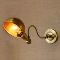 antique gold wall lights - Classical Antique Gold Adjustable Long Swing Arm Sconce Wall Lamp Bedside Light