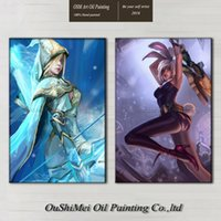 artist games - Professional Artist Hand painted High Quality League of Legends Oil Painting On Canvas Hot Game LOL Heroes Portrait Oil Painting