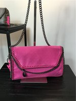 Wholesale STELLA MCCARTNEY styles size23 FALABELLA MINI BAG women SHAGGY DEER crossby chain messenger flap bag