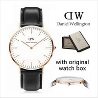 Wholesale New dw watches black face watch top brand Daniel Wellington mm men watches luxury watches mm women watches montre femme Wristwatches box