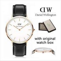 watch faces - New dw watches black face watch top brand Daniel Wellington mm men watches luxury watches mm women watches montre femme Wristwatches box