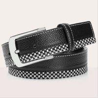 belt buckle collection - Shrunken Leather Waist Belts for Men Cowhide Patchwork Belt First Layer Leather Formal Waistband New Collection CH900041