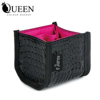 Wholesale Naras brand Makeup Brush set bag beautician Make up set Leather bag makeup vanity case pu cosmetic bag cm cm