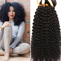 Wholesale 7A Indian Hair Weave Kinky Curly Unprocessed Human Hair Extensions Natural Color g unit Bundle