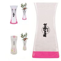 Wholesale Foldable Transparent Plastic Vases Welcome Custom Logo As Adversting Promotion Gifts