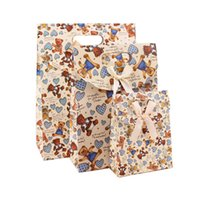 bag die cut - Custom Full Color Printed Paper Gift Bags With Die Cut Handle For Wedding And Party Recycled Paper Carrier Bags Welcome OEM Orders