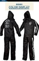 Wholesale Skull motorcycle personality set electric bicycle rain coat rain pants outdoor adult waterproof