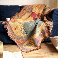 Wholesale 180cm x cm Spring Wind Bohemia Christmas Multifunctional WovenThickened Cotton Sofa Towel Blanket Tapestry Carpet Bed Coverr