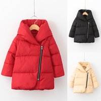 Wholesale 2016 Hot Sale Colors Winter Children Boys Girls Warm Down Parkas Children Long Outerwear Jacket Coat for girls Outfit Clothing MC0330