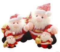 Wholesale 2016 Christmas children s toys Santa claus Plush toys Holiday gift Height CM and CM and CM and CM Plush Doll PP cotton