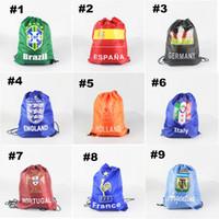 Wholesale National Emblem Soft Drawstring Backpacks EU US Style Bucket No Zipper Backpacks Drawstring Bag with Polyester for Sport