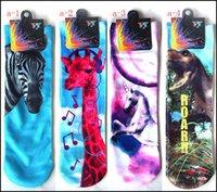 Wholesale fashion d printing animal cartoon socks big children animal fruit panda sport womens girls cotton skateboard sock high quality ez