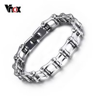 bicycle chain length - Vnox l Stainless Steel Bracelets Long Biker Bicycle Chain Men Male Accessory H Clasp mm Length