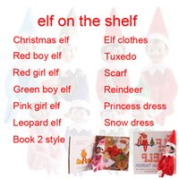 baby book shelf - Christmas Elf Decorations Plush Toys Book Reindeers Xmas Princess Dress Clothes Festive Party Supplies Scarf Baby Boy Girl On The Shelf