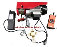 Wholesale 100kg KG M Wireless Remote Mini Winch Hoist Electric Wire Rope Hoist Electric Lifting Winch V HZ