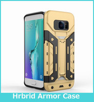 bear hard plastic - New Design For Samsung Note S7 Edge in Hybrid Armor Bear Case Hard Plastic Case with Stand Card Slot Skin Cover For iPhone7 plus