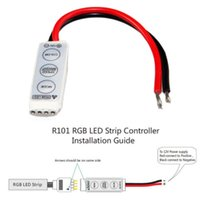 Wholesale 12V Mini Dimmer Amplifier Key Controller LED Light Strip For RGB