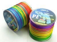 Wholesale 300m weaving Multicolour PE Braided Fishing Line VERTICAL JIGGING LBS LBS