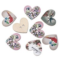 Wholesale 100Pcs Wooden Button Colored Pattern Wooden Button Lavender Dragonfly Emoji Creative DIY Wooden Button mm