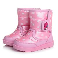 Wholesale 2016 New big girls fashion boots T waterproof boots for girls casual winter girls shoes flat with warm shoes girls