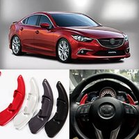 Wholesale 2pcs Brand New High Quality Alloy Add On Steering Wheel DSG Paddle Shifters Extension For Mazda Atenza