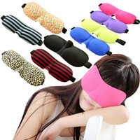 Wholesale Travel Rest D Sponge Eye MASK Black Sleeping Eye Mask Cover for health care to shield the light Gift DHL for I201660208