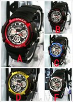 aw fashion - 5pcs Sport Watches Chronograph AW Plastic Unisex Retail Fashion Digital G Watch Time Zone Watch shocking Watches