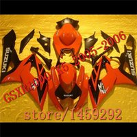 abs plactic - Custom High grade red black ABS plactic fairings GSXR1000 k5 fairing kit GSXR1000 bodywork set