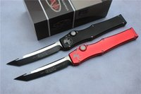 Wholesale 2016 GANZO Microtech Halo V Knife Satin single action auto Tactical knife Survival gear knives with kydex sheath New in box