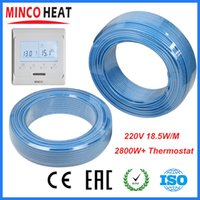 Wholesale MINCO CE carbon fiber infrared heating radiator Heated warm floor heating cable Kit Electric Underfloor Wire V