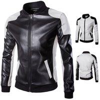 Wholesale 2016 New Autumn Men s Leather Jacket Brand Motercycle Biker Jackets Outdoor Outwear Men Coat Male Fall Clothing xl xl XL XL