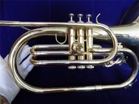 Wholesale Marching Mellophone F Tone Brass Body with case Musical instruments