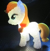 Wholesale My Little Pony LED Toys Pony LED Night Light Toys Flash Toys Plastic Crystal Toys for Children New Hot Sale PIEces