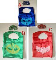 Wholesale 2pcs Set Cape Mask L70 W70 CM Double cape mask Reversible Superhero Cape cape mask