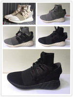 arrival court - 2016 New Arrivals Tubular Doom All Black KITH X Consortium TDP Running Man Shoes Fashion Summer Shoes Outdoor Sports Sneakers US7